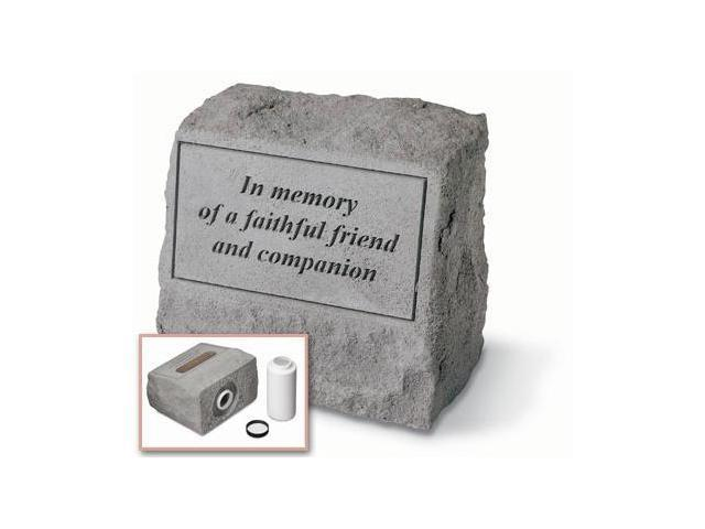 Kay Berry- Inc. 93620 In Memory Of A Faithful Friend - Headstone-Urn Memorial - 9.5 Inches x 8 Inches