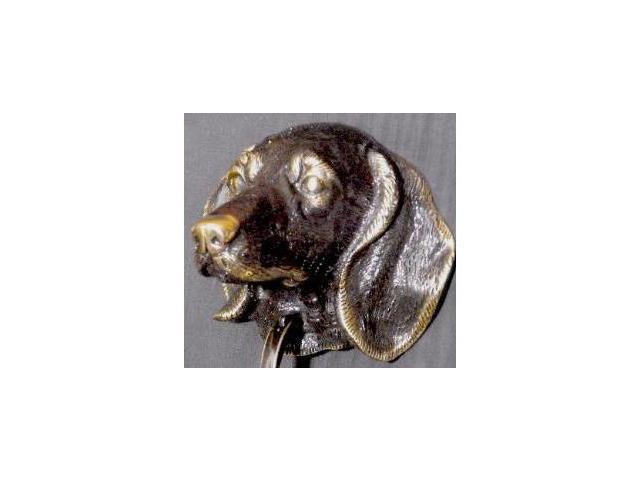 Mayer Mill Brass - DOK-DL - Dauschund Door Knocker - Lacqd Dark