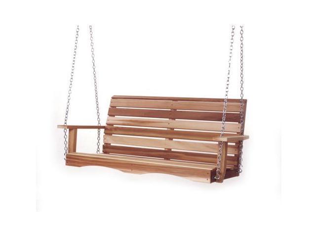 All Things Cedar PS48U Western Cedar Porch Swing - Red