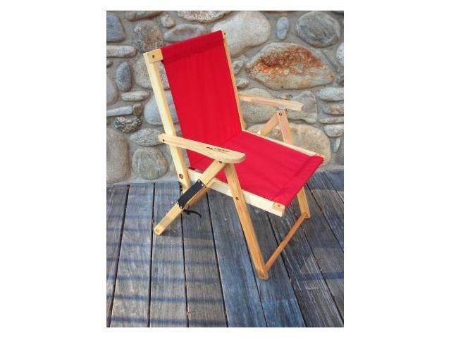 Blue Ridge Chair Works DFCH05WR Highlands Deck Chair - Red