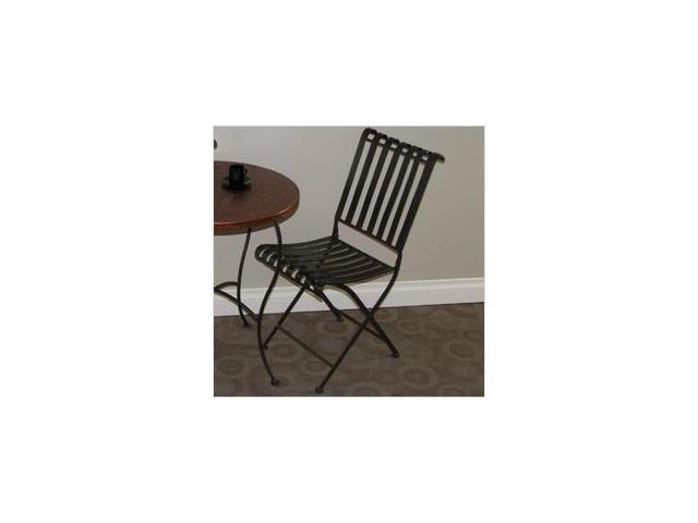 4D Concepts 55582 Rounded Metal Folding Chair- Metal