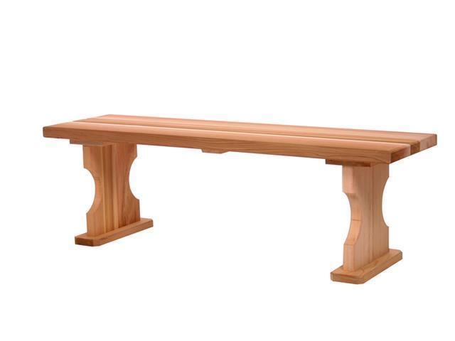 All Things Cedar BB45U 4 Foot Backless Bench