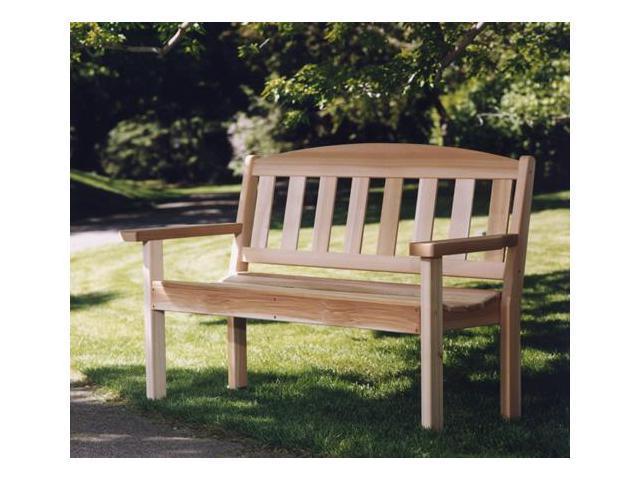 All Things Cedar GB48U Western Cedar Garden Bench - Red