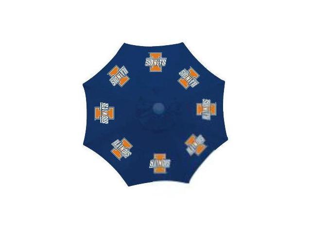 Seasonal Designs CTU117 Collegiate Patio Umbrella Illinois