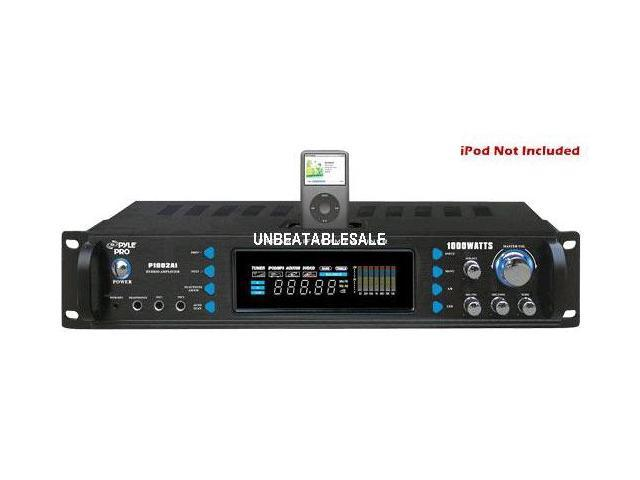 PYLE P1002AI 1000W Hybrid Receiver and Pre-Amplifier with AM-FM Tuner-Ipod Docking Station