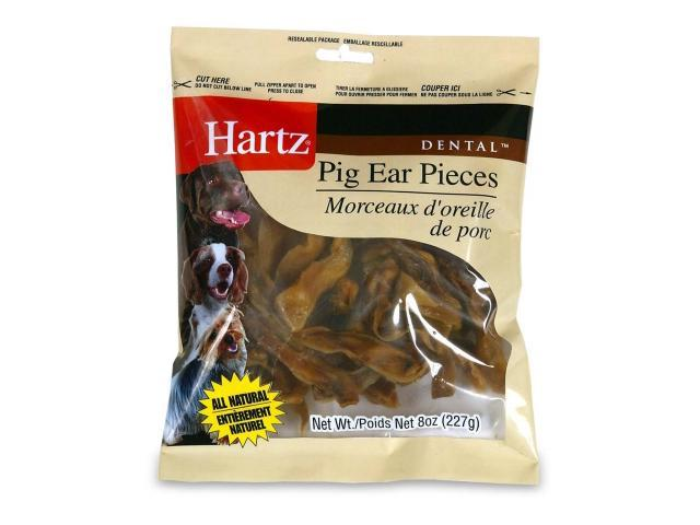 Hartz 8 Oz Dental Pig Ear Pieces  98413