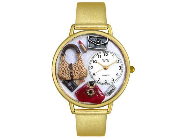 Purse Lover Gold Leather And Goldtone Watch #G1010021