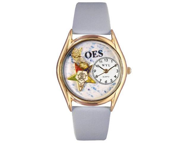 Order of the Eastern Star Baby Blue Leather And Goldtone Watch #C0710008