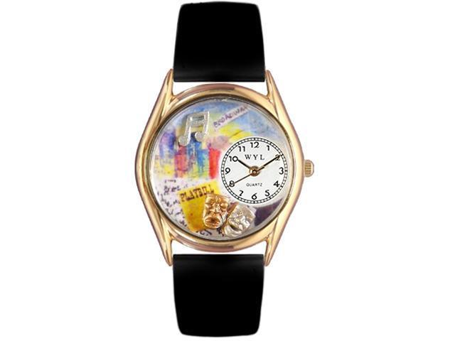 Drama Theater Royal Blue Leather And Goldtone Watch #C0420003