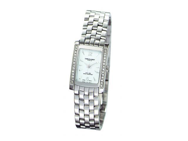 Charles-Hubert- Paris Womens Swarovski Crystal Quartz Watch #6666-WM