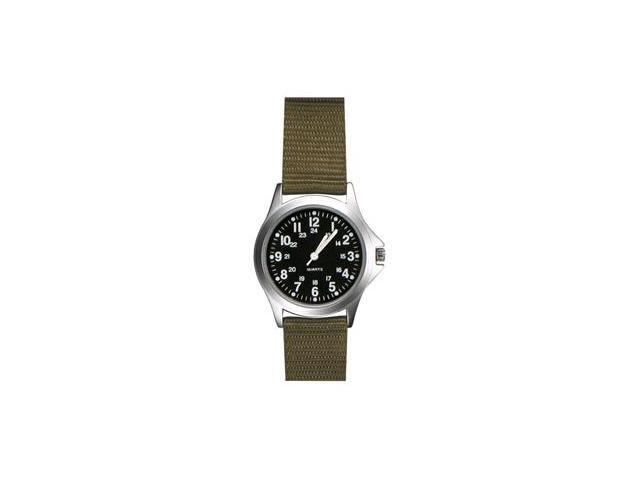 Zan Headgear RAMW1003 Field Watch  Khaki Nylon Strap  Black Face
