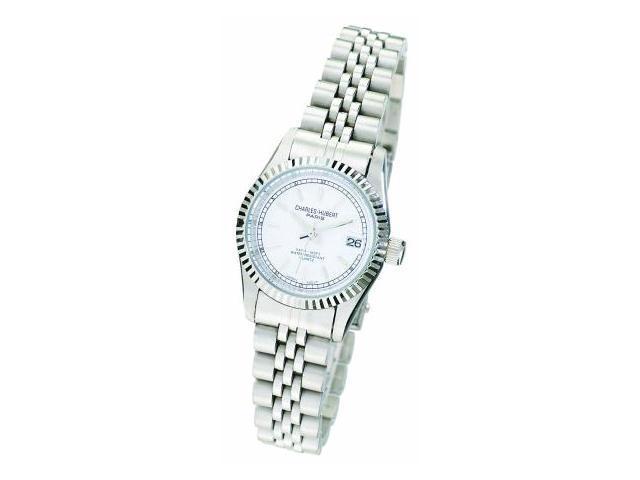 Charles-Hubert- Paris Womens Stainless Steel Quartz Watch #6635-WW