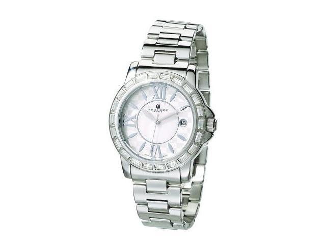 Charles-Hubert- Paris Swarovski Crystal Stainless Steel Quartz Watch #3759