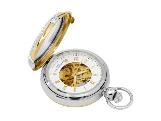 Charles-Hubert- Paris 3846 Two-Tone Mechanical Picture Frame Pocket Watch with Screw-off Bezel