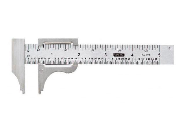 "Alvin&Co V729 5"" Pocket Slide Caliper"