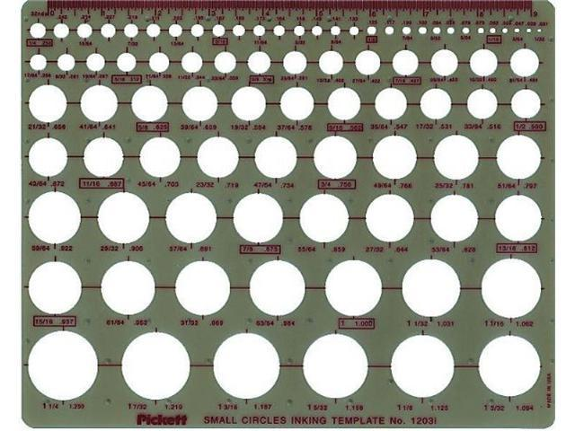 Alvin&Co 1203I Small Circles Drawing Template