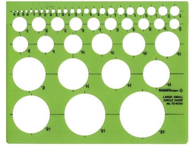 Alvin&Co TD4000 Template Circle Guide Circles From 1/16