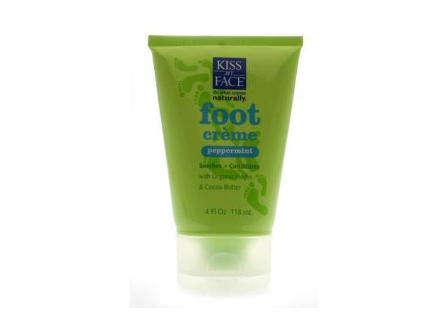 Foot Creme Peppermint - Kiss My Face - 4 oz - Creme
