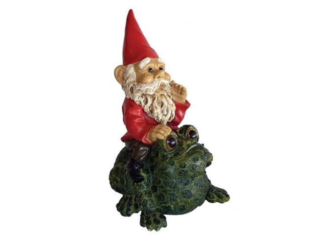 Michael Carr Designs MCD80038 Michael Carr Garrold Gnome On Toad