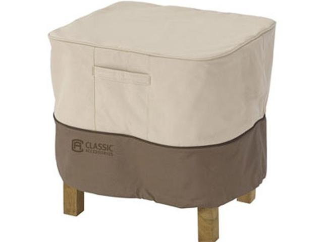 Classic Accessories 72912 Ottoman/Side Table Cover Rectagular Large - Tan Trim