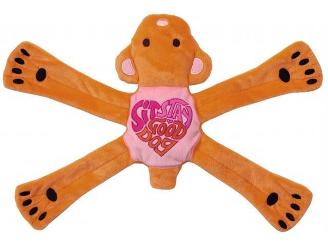 Doggles TYPHBE02 Hippie Pentabear Dog Toy - Pink