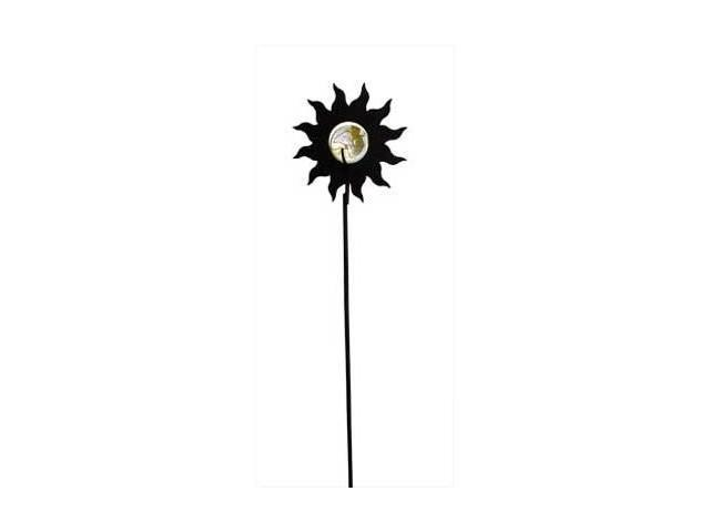 Village Wrought Iron MGS-97 Sun Marble Garden Stake