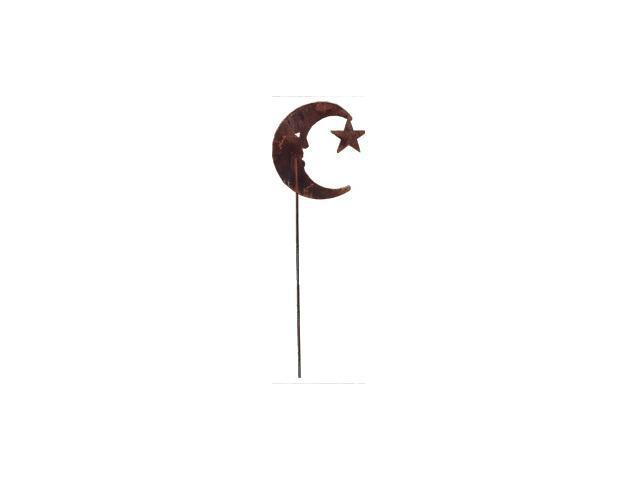 Village Wrought Iron RGS-2 Moon-Star Rusted Stake