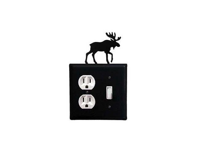 Village Wrought Iron EOS-19 Moose Outlet and Switch Cover - Black