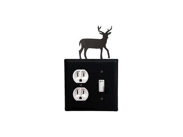 Village Wrought Iron EOS-3 Deer Outlet and Switch Cover - Black