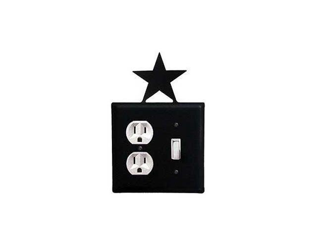 Village Wrought Iron EOS-45 Star Outlet and Switch Cover - Black