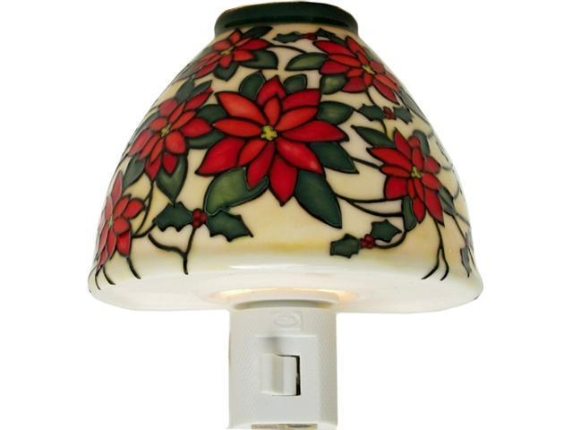 Translucent Porcelain Poinsettia Night Light
