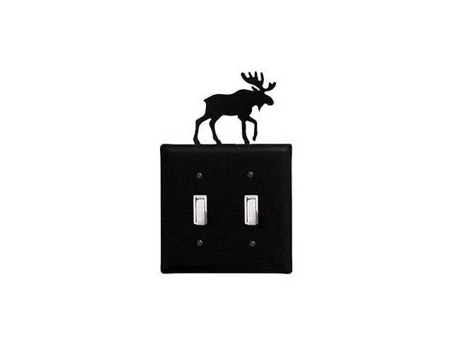 Village Wrought Iron ESS-19 Moose Switch Cover Double - Black