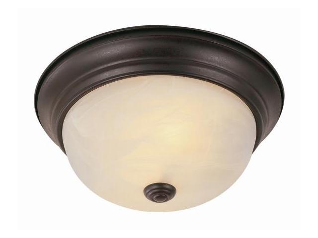 Trans Global Lighting 13619 ROB 3 Light 15 in. W Flushmount - Rubbed Oil Bronze