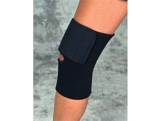 Complete Medical SA9086MD Medium Black Neoprene Knee Wrap 14-15 Sportaid