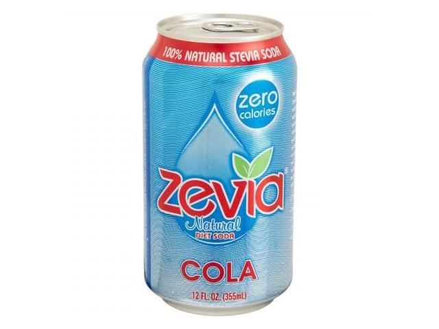Zevia 35587 4 x 6/12 oz. Natural Cola Diet Soda