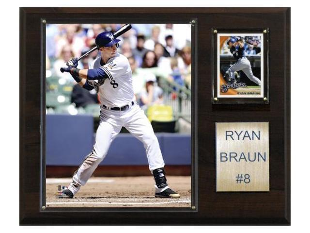 C & I Collectables 1215BRAUN MLB Ryan Braun Milwaukee Brewers Player Plaque