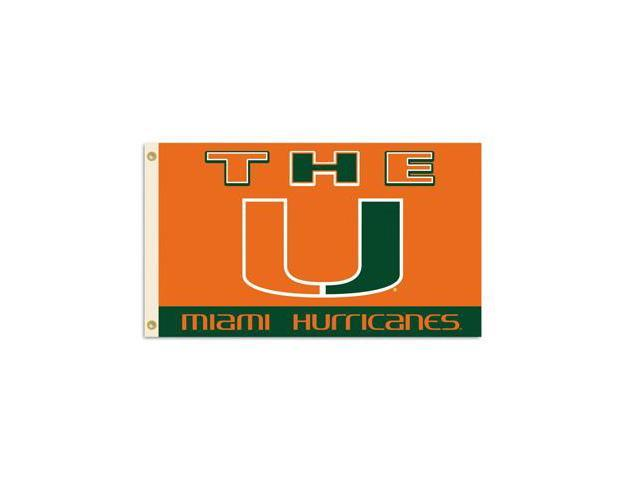 BSI PRODUCTS 95131 3 Ft. X 5 Ft. Flag with Grommets- Miami Hurricanes