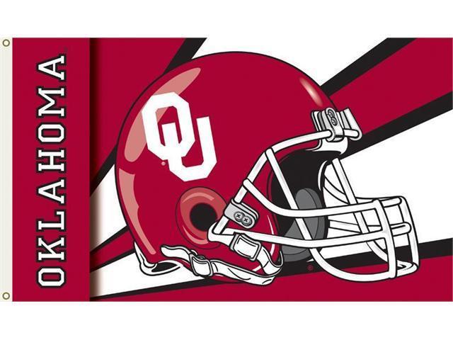 Bsi Products 95319 3 Ft. X 5 Ft. Flag W/Grommets - Helmet Design - Oklahoma Sooners