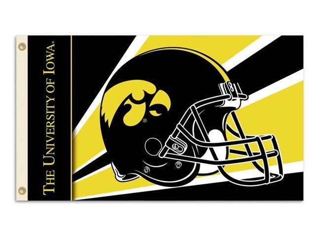 Bsi Products 95324 3 Ft. X 5 Ft. Flag W/Grommets - Helmet Design - Iowa Hawkeyes