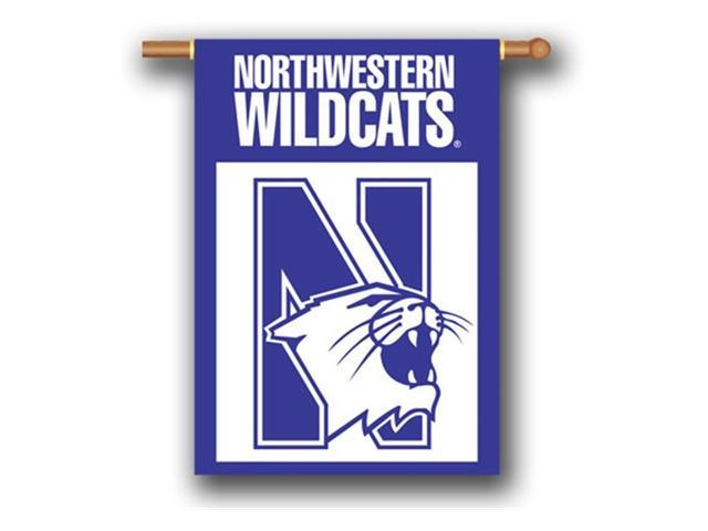 Bsi Products 96069 2-Sided 28'' X 40'' Banner W/ Pole Sleeve - Northwestern Wildcats