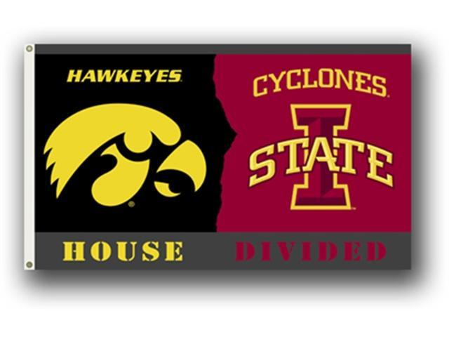 Bsi Products 95922 3 Ft. X 5 Ft. Flag W/Grommets - Rivalry House Divided - Iowa - Iowa State