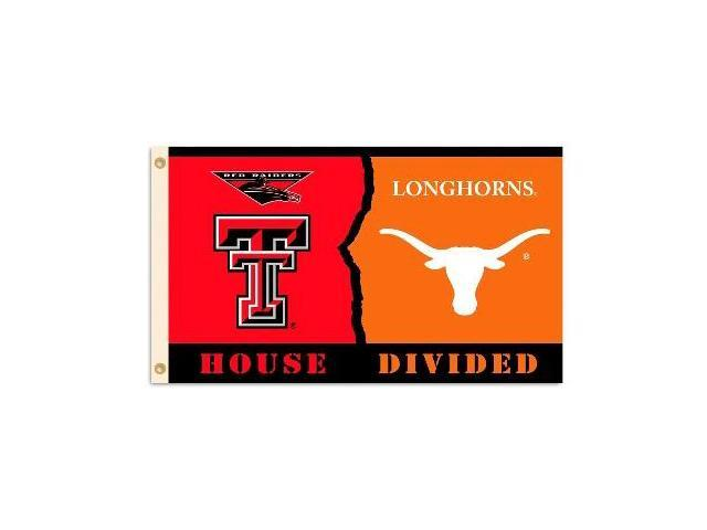Bsi Products 95827 3 Ft. X 5 Ft. Flag W/Grommets - Rivalry House Divided - Texas Tech - Texas
