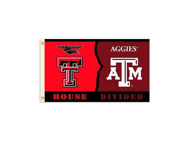 Bsi Products 95927 3 Ft. X 5 Ft. Flag W/Grommets - Rivalry House Divided - Texas Tech - Texas A & M