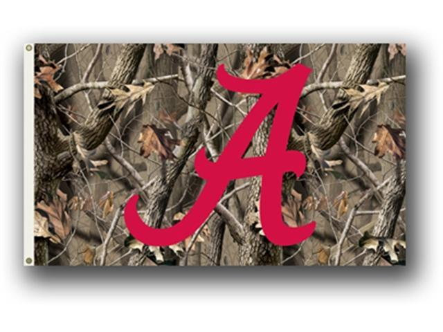 Bsi Products 95402 3 Ft. X 5 Ft. Flag W/Grommets - Realtree Camo Background - Alabama Crimson Tide