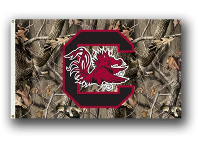 Bsi Products 95426 3 Ft. X 5 Ft. Flag W/Grommets - Realtree Camo Background - South Carolina Gamecocks