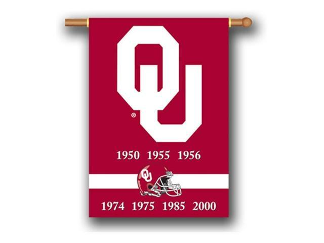 Bsi Products 96219 Champ Years 2-Sided 28'' X 40'' Banner W/ Pole Sleeve - Oklahoma Sooners