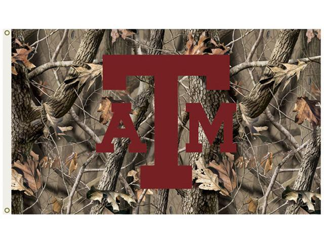 Bsi Products 95630 3 Ft. X 5 Ft. Flag W/Grommets - Realtree Camo Background - Texas A&M Aggies
