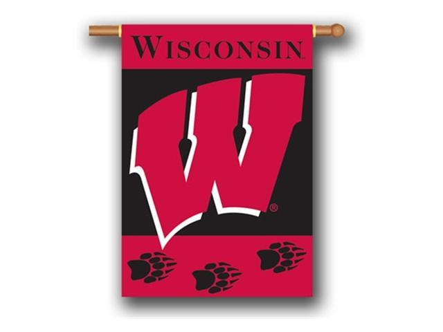 Bsi Products 96020 2-Sided 28'' X 40'' Banner W/ Pole Sleeve - Wisconsin Badgers