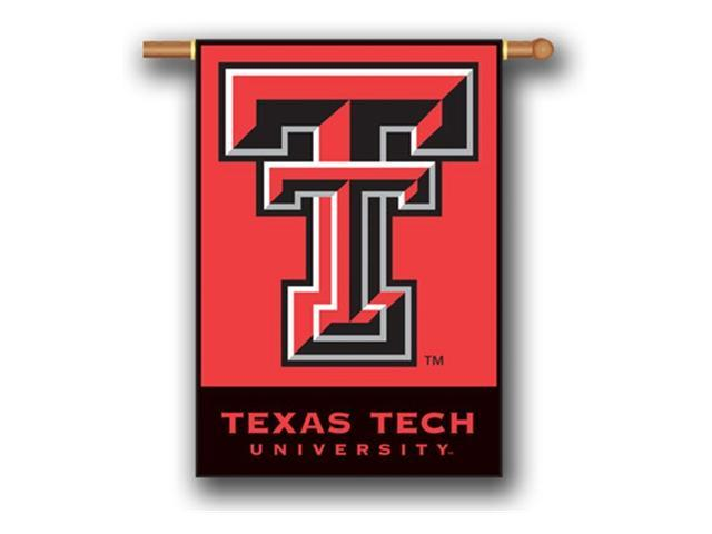 Bsi Products 96027 2-Sided 28'' X 40'' Banner W/ Pole Sleeve - Texas Tech Red Raiders