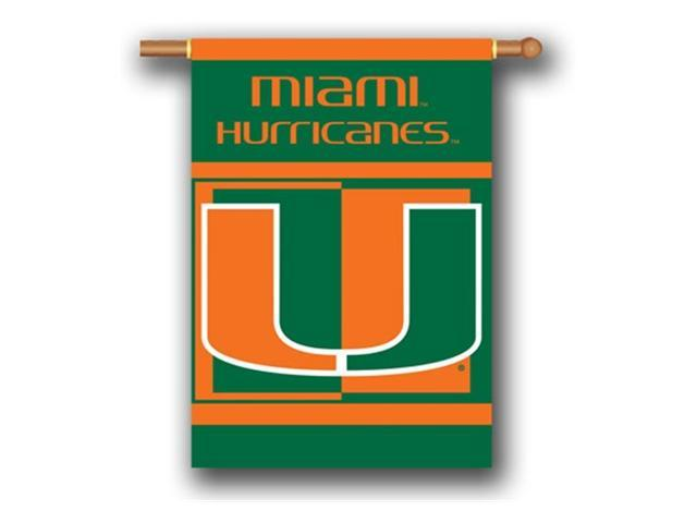 Bsi Products 96031 2-Sided 28'' X 40'' Banner W/ Pole Sleeve - Miami Hurricanes
